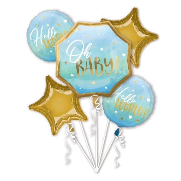 Bilde av Baby Boy, Folieballongbukett, 5 stk