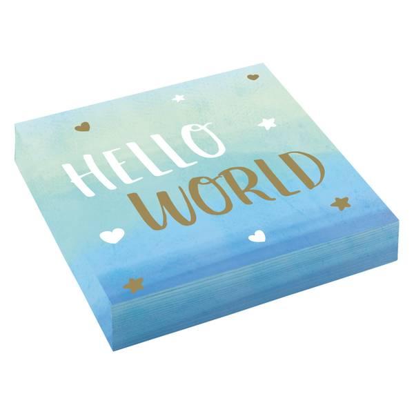 Bilde av Blue Hallo World, Servietter, 16 stk