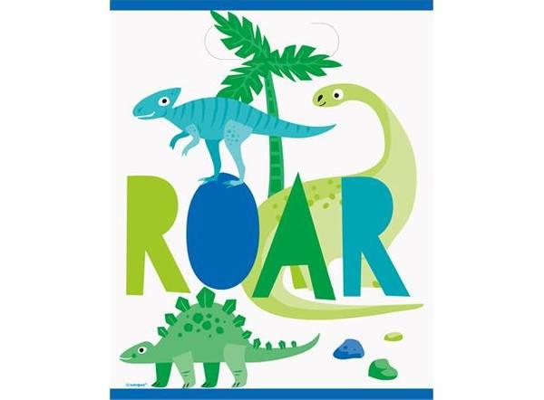 Bilde av Blå og Grønn Dinosaur Godtepose