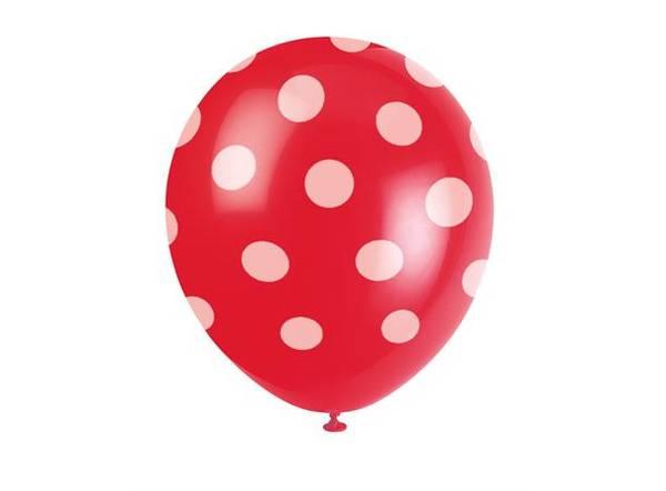 Bilde av Prikkete Rød Ballonger 30cm