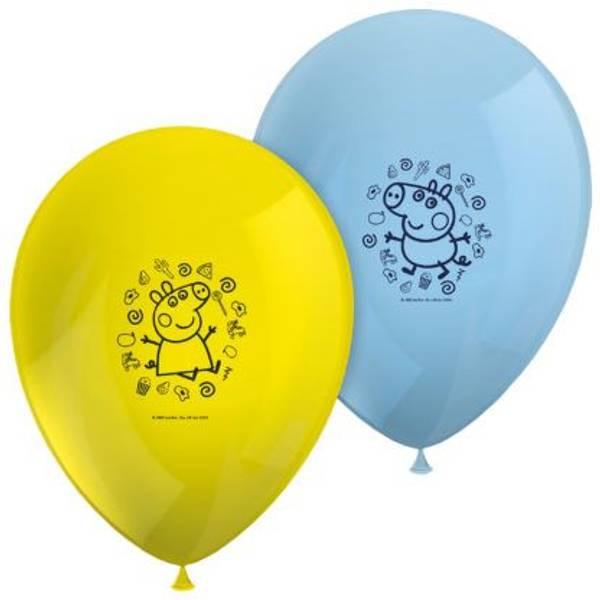 Bilde av Fargerike Peppa Gris, Ballonger, 6 stk