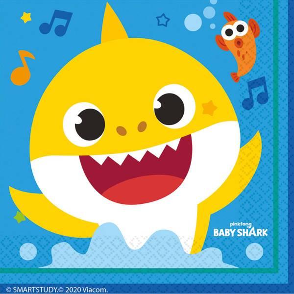 Bilde av Baby Shark, Servietter 20stk