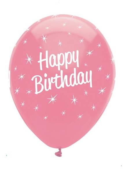 Bilde av Happy Birthday, Ballonger, ass, 6 stk
