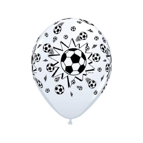Bilde av Fotball Ballonger Hvit/Svart 6 stk