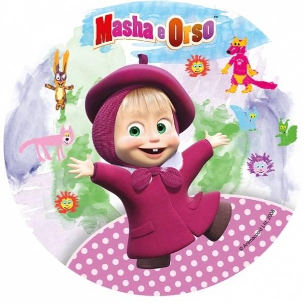 Bilde av Miska og Masha Kakebilde, 20 cm