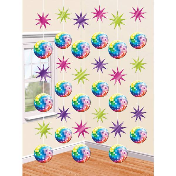 Bilde av Disco Hengende Dekorasjon, 6 stk