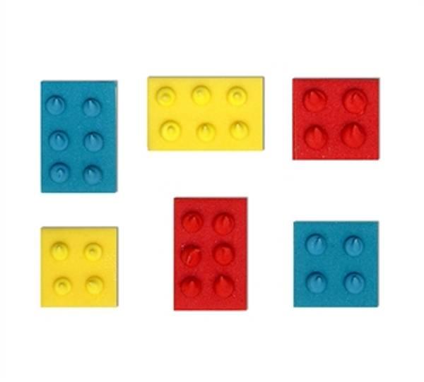 Bilde av Sukkerpynt, Legoklosser, 6 stk