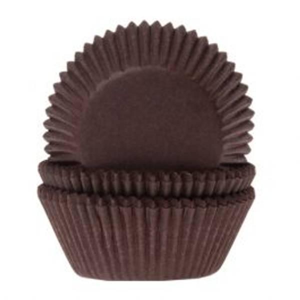 Bilde av Brune mini muffinsformer 60 stk