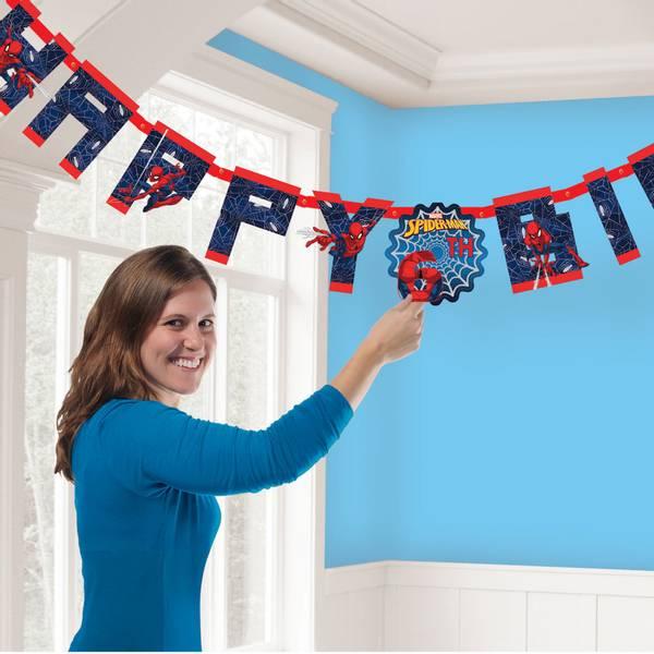 Bilde av Spiderman, Happy Birthday Banner, 1,8m, 2