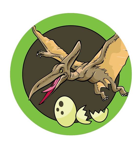 Bilde av Dinosaur Kakebilde, 6,  Sukkerpapir, 20 cm
