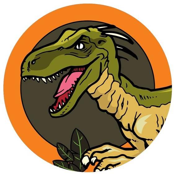Bilde av Dinosaur Kakebilde, 7, Sukkerpapir, 20 cm