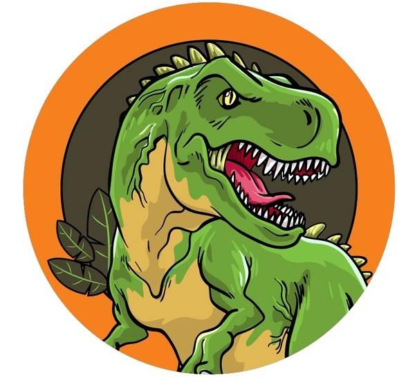 Bilde av Dinosaur Kakebilde, 8, Sukkerpapir, 20 cm