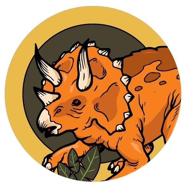 Bilde av Dinosaur Kakebilde, 9, Sukkerpapir, 20 cm