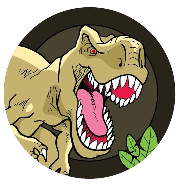 Bilde av Dinosaur Kakebilde, 11,  Sukkerpapir, 20 cm