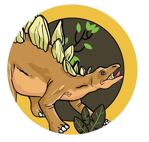 Bilde av Dinosaur Kakebilde, 12,  Sukkerpapir, 20 cm