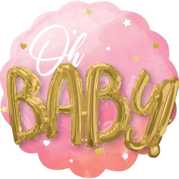 Bilde av XL Baby Girl, Folieballong, 71*71 cm