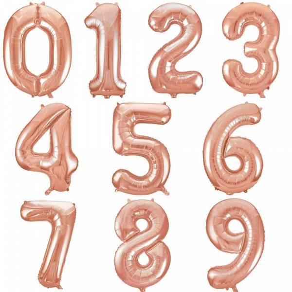 Bilde av Rosegull Miniballong med holder, nr 0 -9