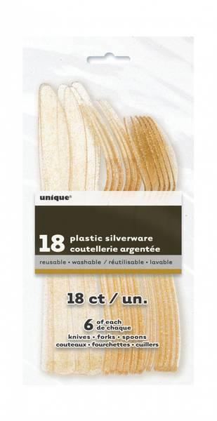 Bilde av Glitterbestikk, gull