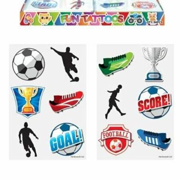 Bilde av Fotball Tatoveringer, 6 stk