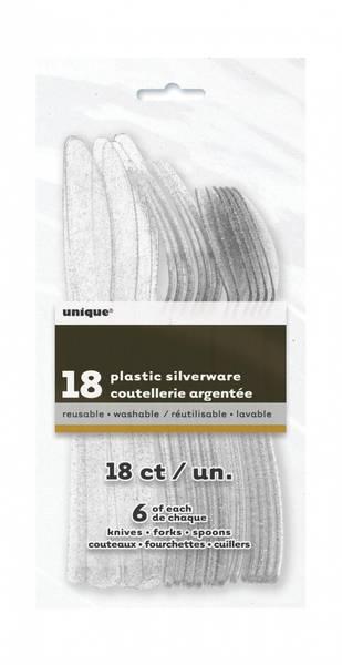 Bilde av Glitterbestikk, sølv