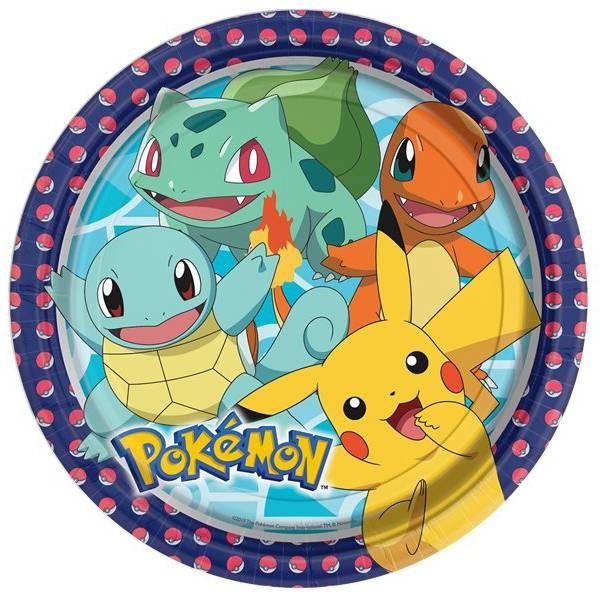 Bilde av Pokemon, Tallerker 8 stk