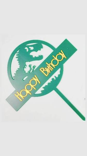 Bilde av Skummel Happy Birthday Dinosaur Kaketopper, 3 varianter