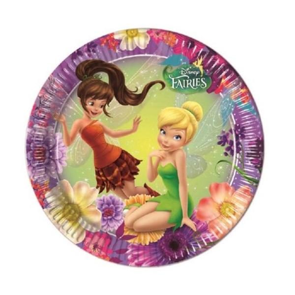 Bilde av Disney Fairies papptallerkener 23 cm