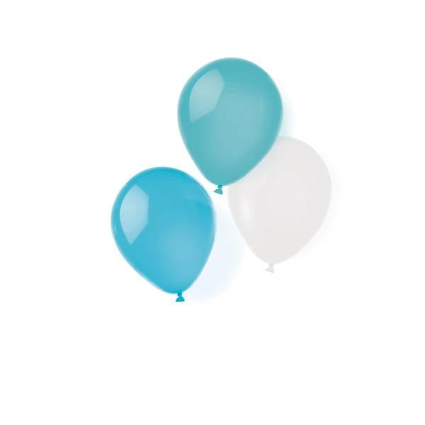 Bilde av Turkis, grønn og hvite ballonger, 8 stk
