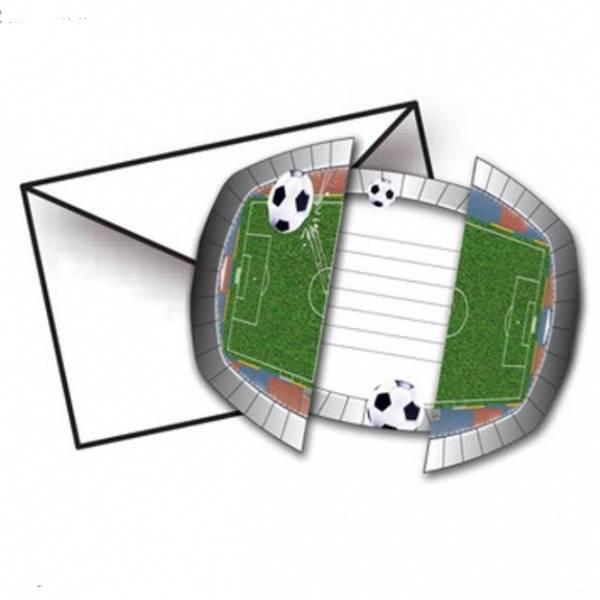 Bilde av Fotball Innbydelseskort, 8 stk