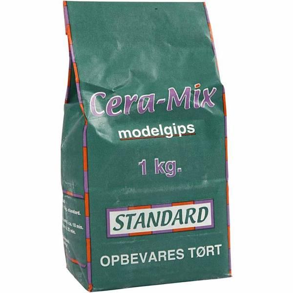 Bilde av Cera-mix Standard Modellgips, Lys Grå, 1 kg