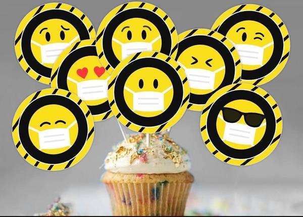 Bilde av Emoji, Cupcaketoppers, 8 stk