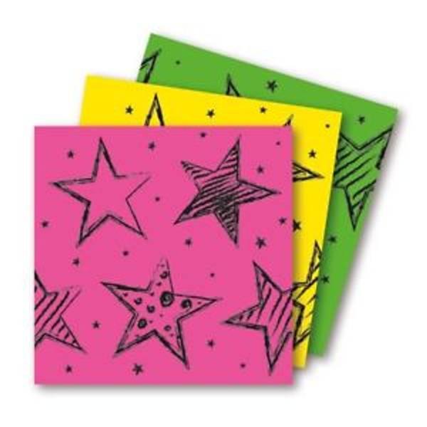 Bilde av Neon Servietter m/stjerner, 20 stk