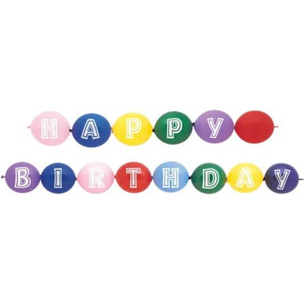 Bilde av Kjedeballonger «Happy Birthday»
