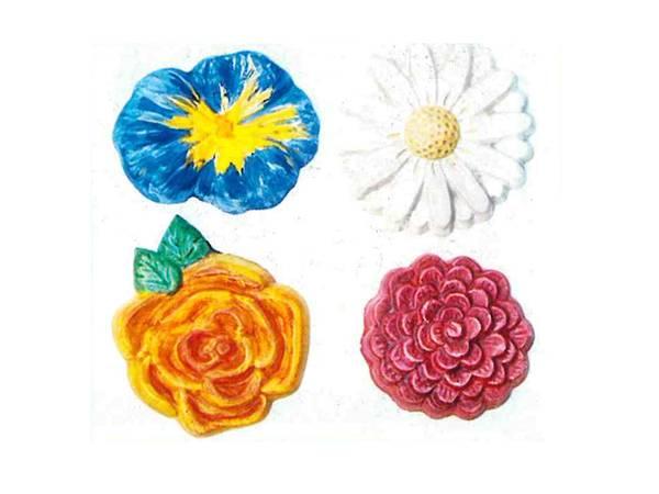 Bilde av Gipsform 4 blomster