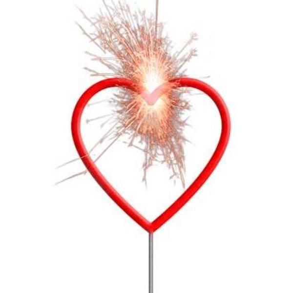 Bilde av Stjerneskudd Rød Hjerte