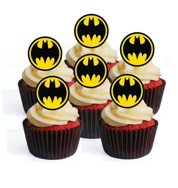 Bilde av Batman, Muffinsbilder, 12 stk
