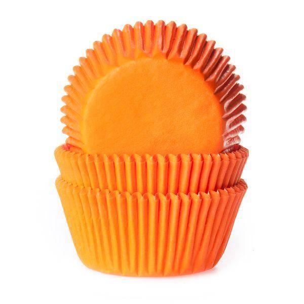 Bilde av Oransje Folie, Muffinsformer, 24 stk