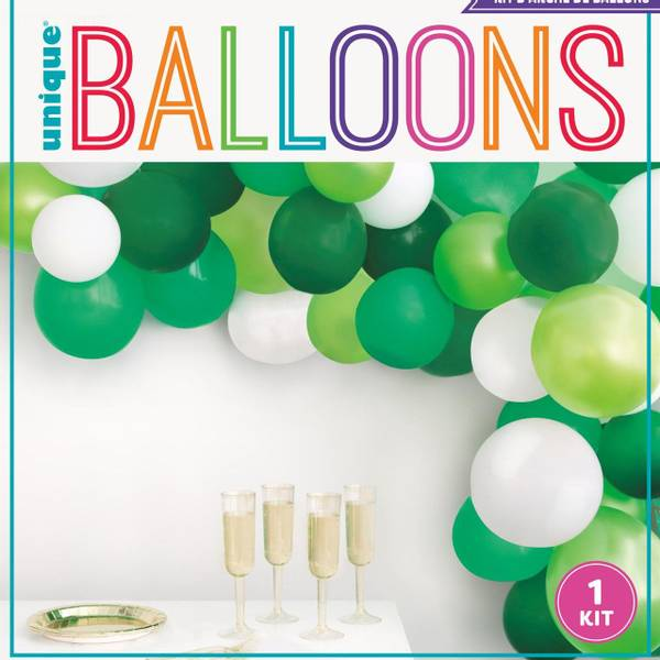 Bilde av Grønn og hvit ballongbue sett