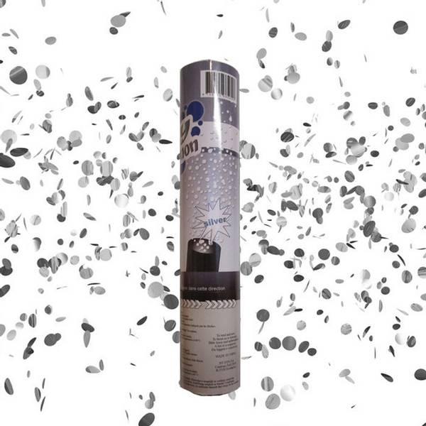 Bilde av Konfettikanon - Sølv, 20 cm