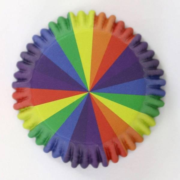 Bilde av Regnbue Folie Muffinsformer, 30 stk