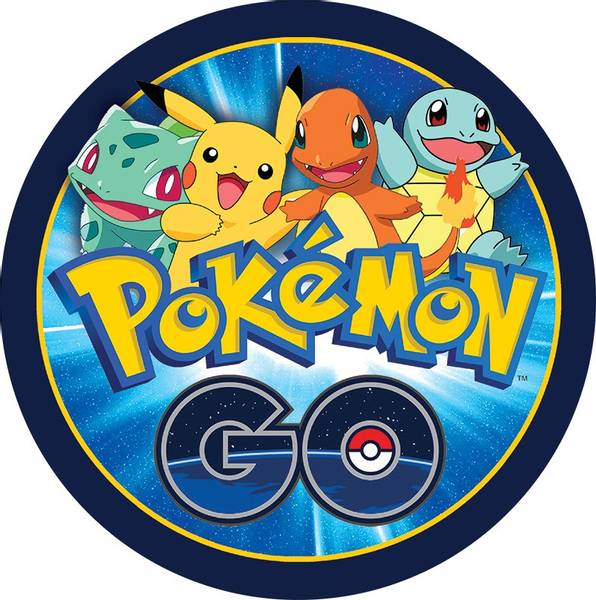 Bilde av Pokemon Go, Kakebilde  Sukkerpapir, 20 cm