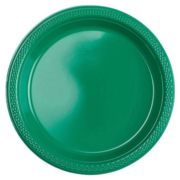 Bilde av Grønn,  Plast Asjett, 10 stk