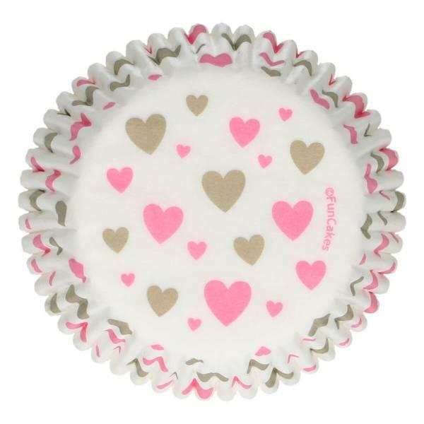 Bilde av Hjerte, Muffinsformer, 48stk
