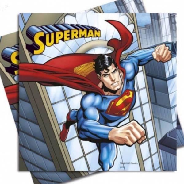 Bilde av Supermann Servietter, 20 stk