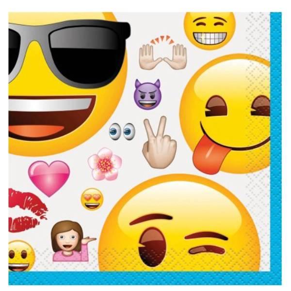 Bilde av Emoji, Caféservietter 16 stk