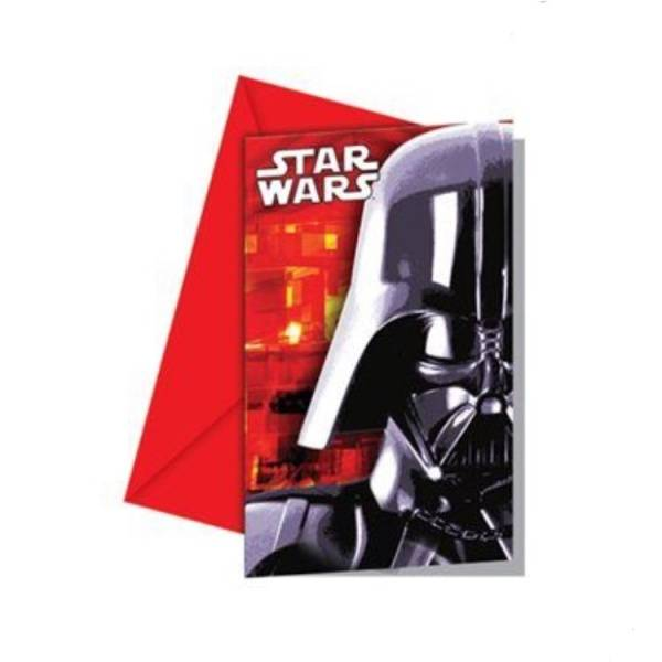 Bilde av Star Wars Innbydelseskort, 6 stk