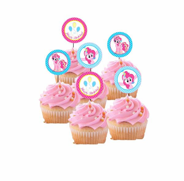 Bilde av Pinky, Cupcaketoppers, 8 stk