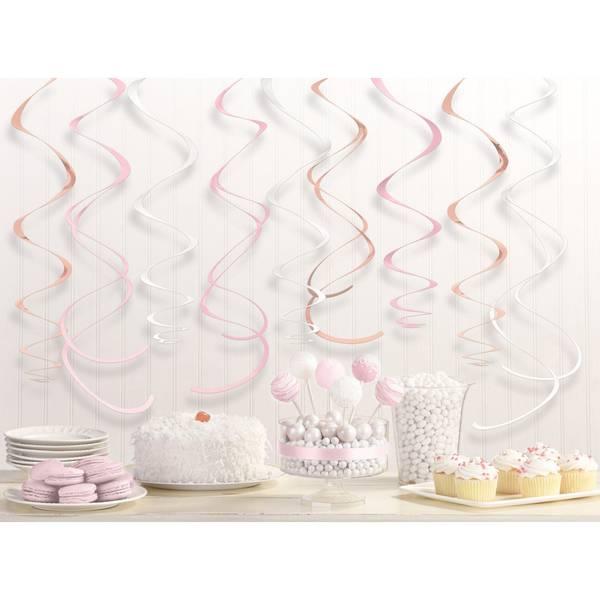 Bilde av Swirl dekor i rosegull, rosa og hvit