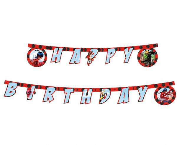 Bilde av Miraculous Ladybug, Happy Birthday Banner