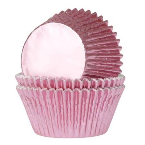 Bilde av Metalisk Rosa, Mini Muffinsformer, 36 stk